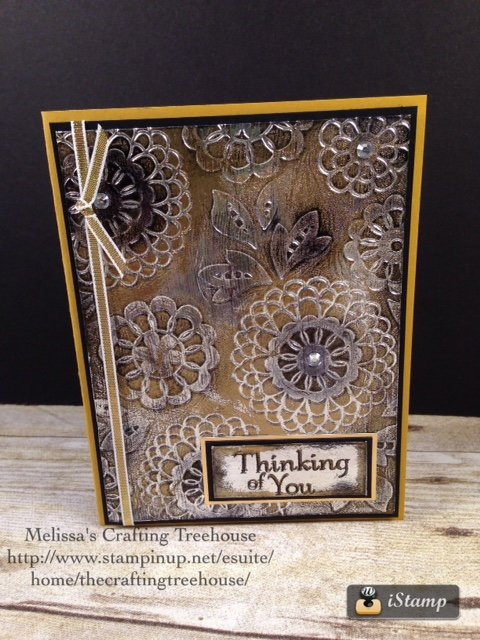 This card was my technique card swap and contest entry for a demonstrator gathering. I'm excited to say that my card was the technique card contest winner!