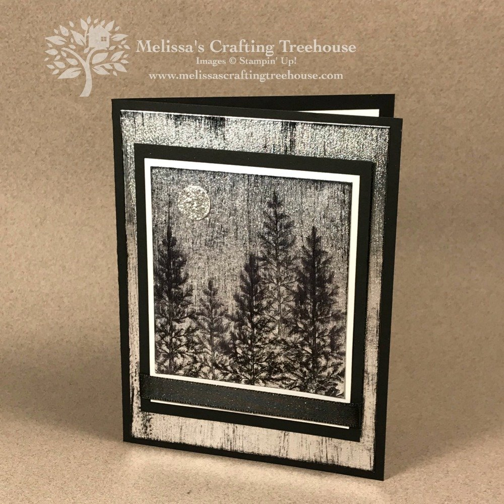 I'm so excited to share today's project which features the Lovely As A Tree Stamp Set (which is retiring as of 6/3/19) and a brand NEW Technique I call the Black Ice technique.