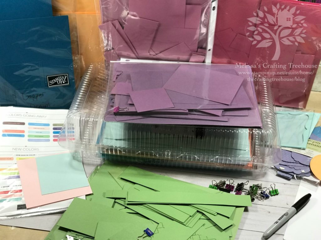 "Check out how I organize my cardstock and ""Harvest Card Salad"" Pieces. What is ""card salad"" you ask. Find out more in my blog post here."