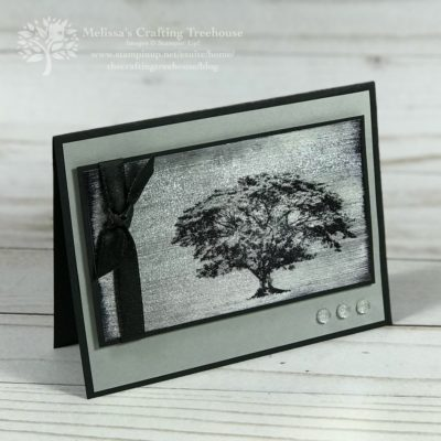 Rooted in Nature Oak Tree with the Black Ice Paper Crafting Technique