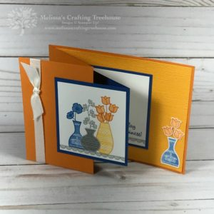 Fun Fold Card with Varied Vases