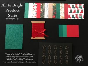 2018 Holiday Catalog Taste of a Suite Product Shares Now Available to PreOrder! All Is Bright Suite Shown Here.
