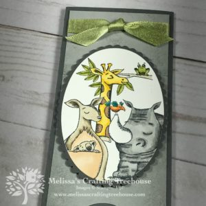 Check out this Double Pop Up Slider card made with the Animal Expedition Stamps Set and Blends Alcohol Markers by Stampin' Up! Project created by Melissa Kerman at Melissa's Crafting Treehouse.