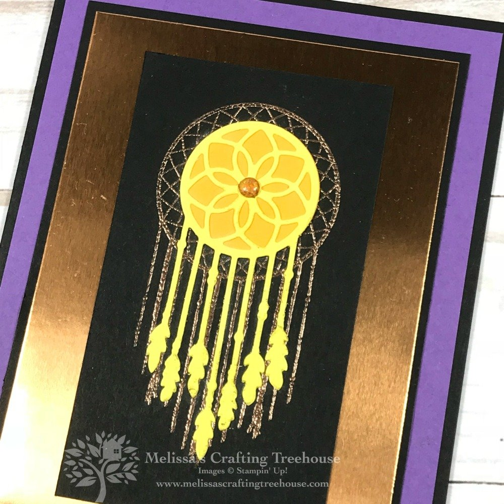 Handmade card made with the Follow Your Dreams Bundle by Stampin' Up!. Project created to celebrate my Website Launch Party! Created by Melissa Kerman @ Melissa's Crafting Treehouse.