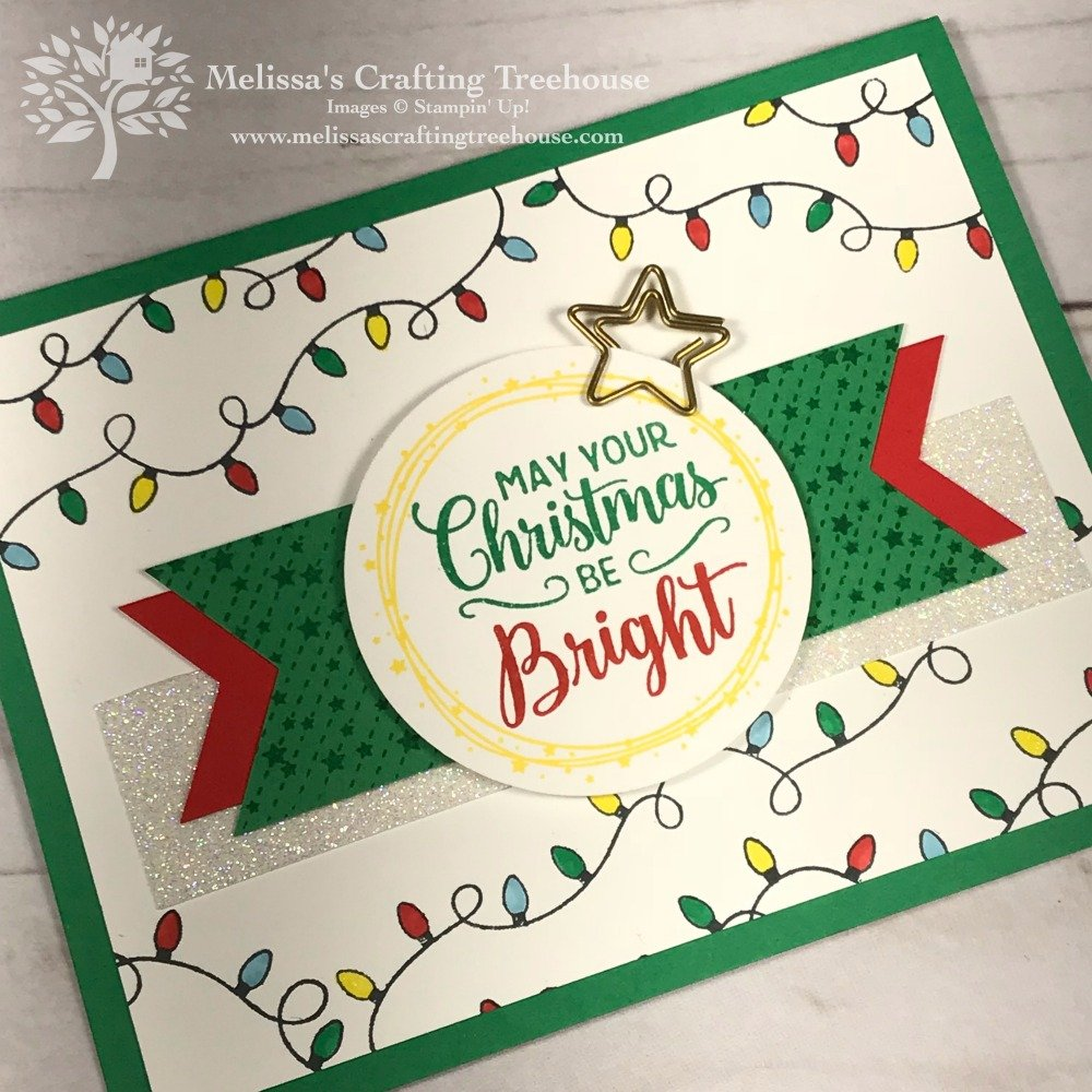 Project featuring the All Is Bright Product Suite from the 2018 Holiday Catalog by Stampin' Up! This was a Team make n' take for our July team gathering.