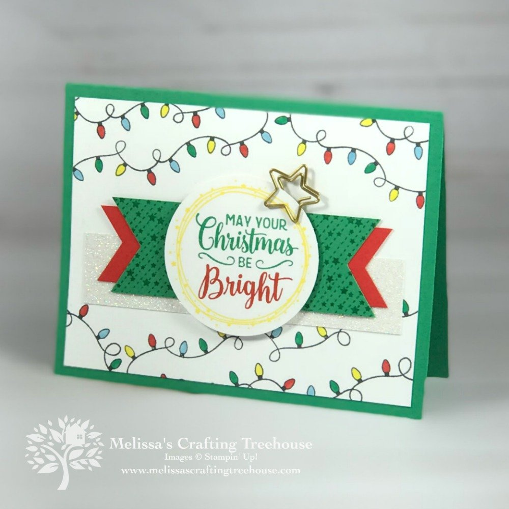 Project featuring the All Is Bright Product Suite from the 2018 Holiday Catalog by Stampin' Up! This was a Team make n' take for out July team gathering.