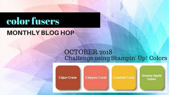 Color Fusers Blog Hop Monthly Color Challenge Project
