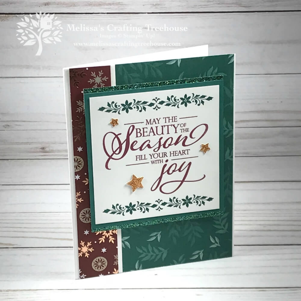 Homemade Christmas Card Idea - Melissa\'s Crafting Treehouse