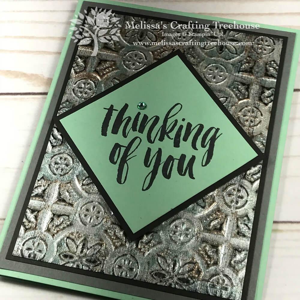 Tarnished Foil with Tin Tile Embossing Folder