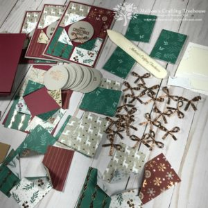 Combine Designer Series Paper and Unique Card Folds to create your Christmas card design. Today's card is simple, beautiful and easy to make!
