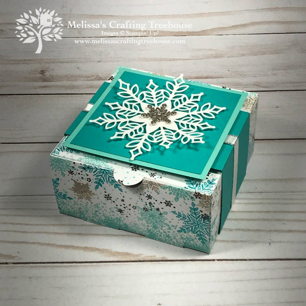 Today's post features one of two homemade gift box ideas that were part of my Gift Packaging Stamp-a-Stack, at my Creative Escape Day event.