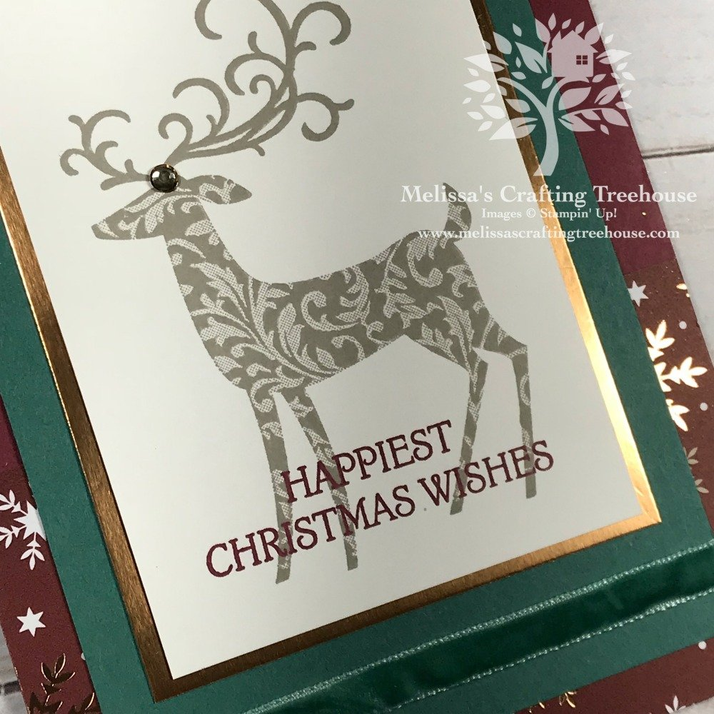Making elegant homemade Christmas cards can be easy and quick. Today's project was part of my Holiday Cards Stamp-a-Stack and includes simple stamping.