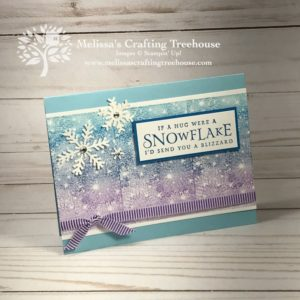 Check out this fun trick with the Stampin up Stamparatus and the Bokeh Dots Stamp Set! Also featured here is the Beautiful Blizzard Stamp Set and a custom inked Spectrum Pad.