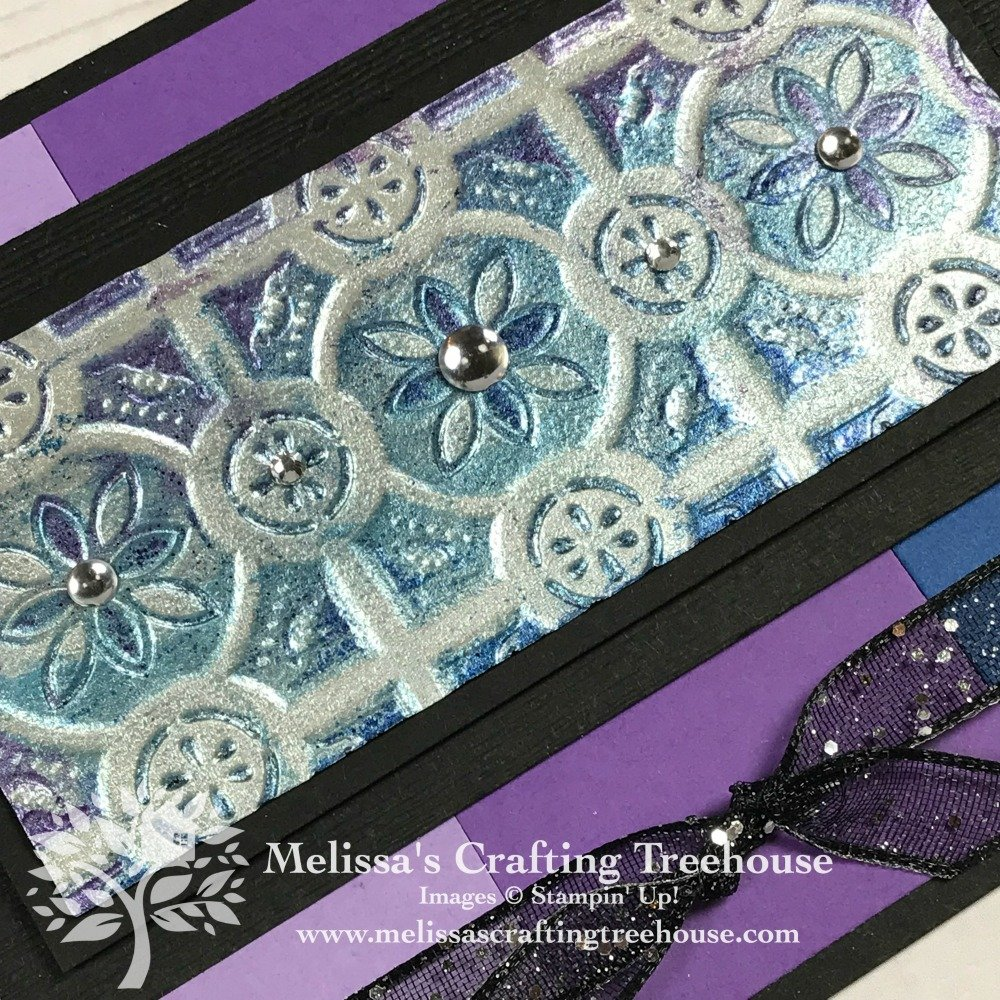 These projects feature embossed foil art with custom colored foil. I've used a variety of embossing folders including the Tin Tile, Tufted and Layered Leaves embossing folders. These embossing folders are the star of the show!