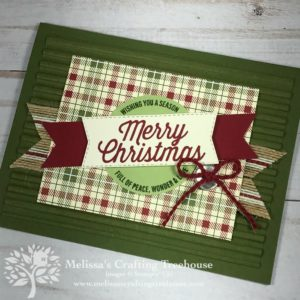 DIY Christmas Card featuring the Farmhouse Christmas product suite in the Stampin' Up! Holiday Catalog. Also uses the NEW corrugated embossing folder.