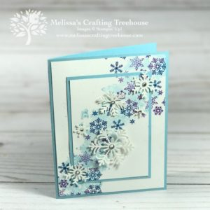 In this post, learn how to do double layer stamping with a custom-made spectrum pad. This is one of those stamping techniques that produce a fun and interesting effect, while also being super simple. Project features the Beautiful Blizzard Stamp Set and Blizzard Thinlits Die.
