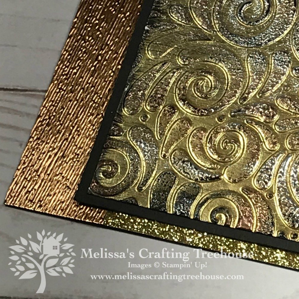 Today's project features embossing techniques with two metallic embossing powders and two embossing folders to create this unique Tarnished Foil project.