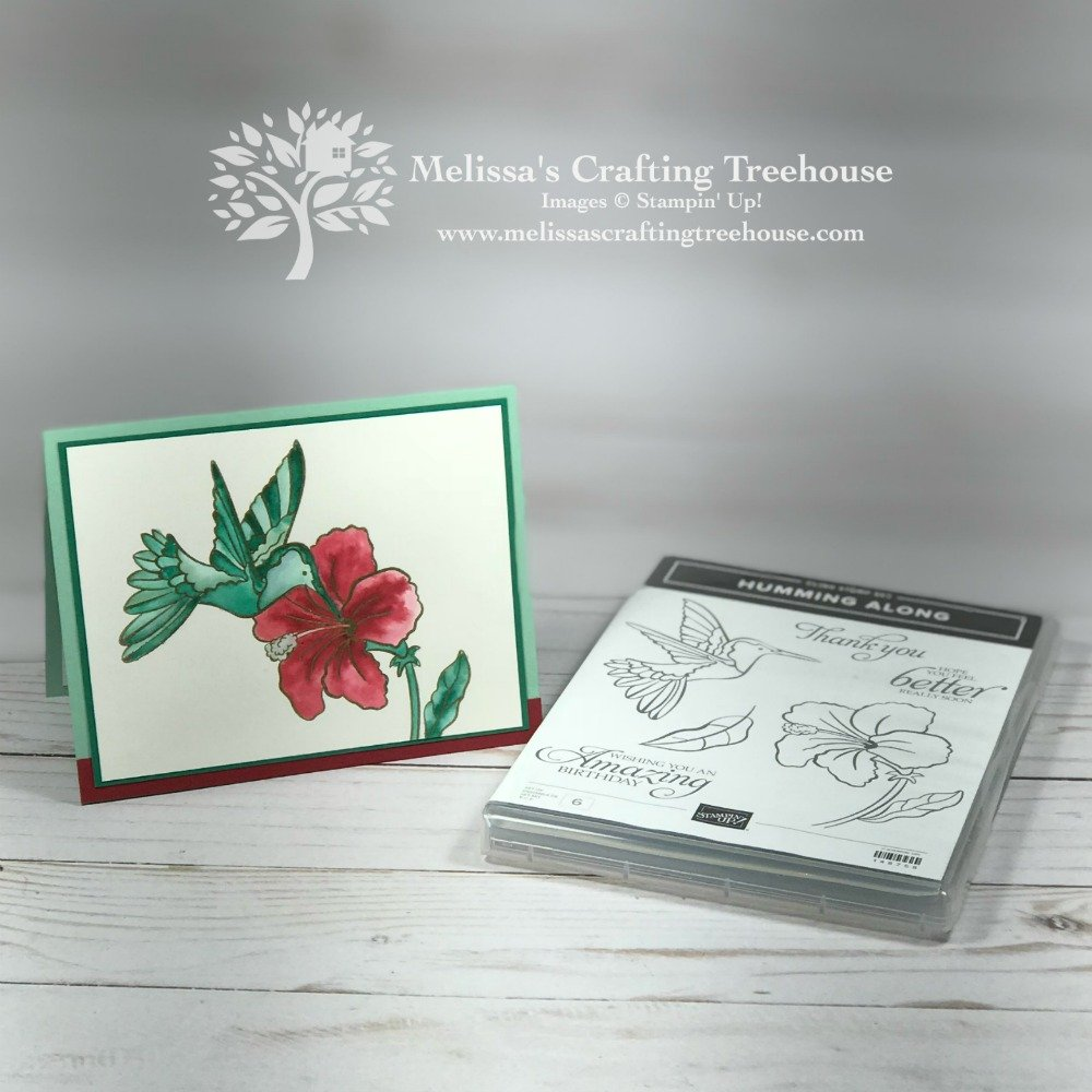 Check out the Dec 2018 Color Fusers Blog Hop and Color Challenge! My project features an Occasions Catalog Sneak Peek made with the Humming Along stamp set by Stampin' Up!