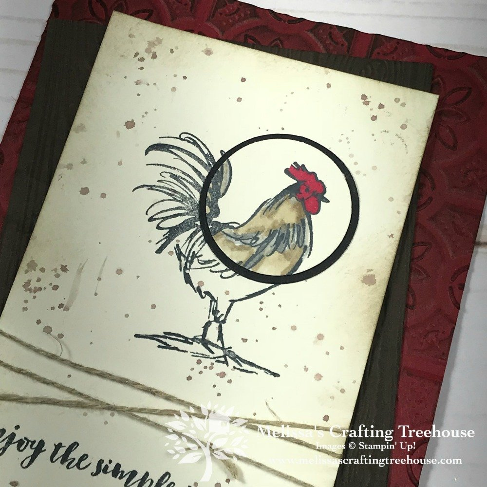 The Spotlighting Technique is used to add a fun twist to some simple card making ideas. The Home to Roost and All That You Are stamp sets are used.