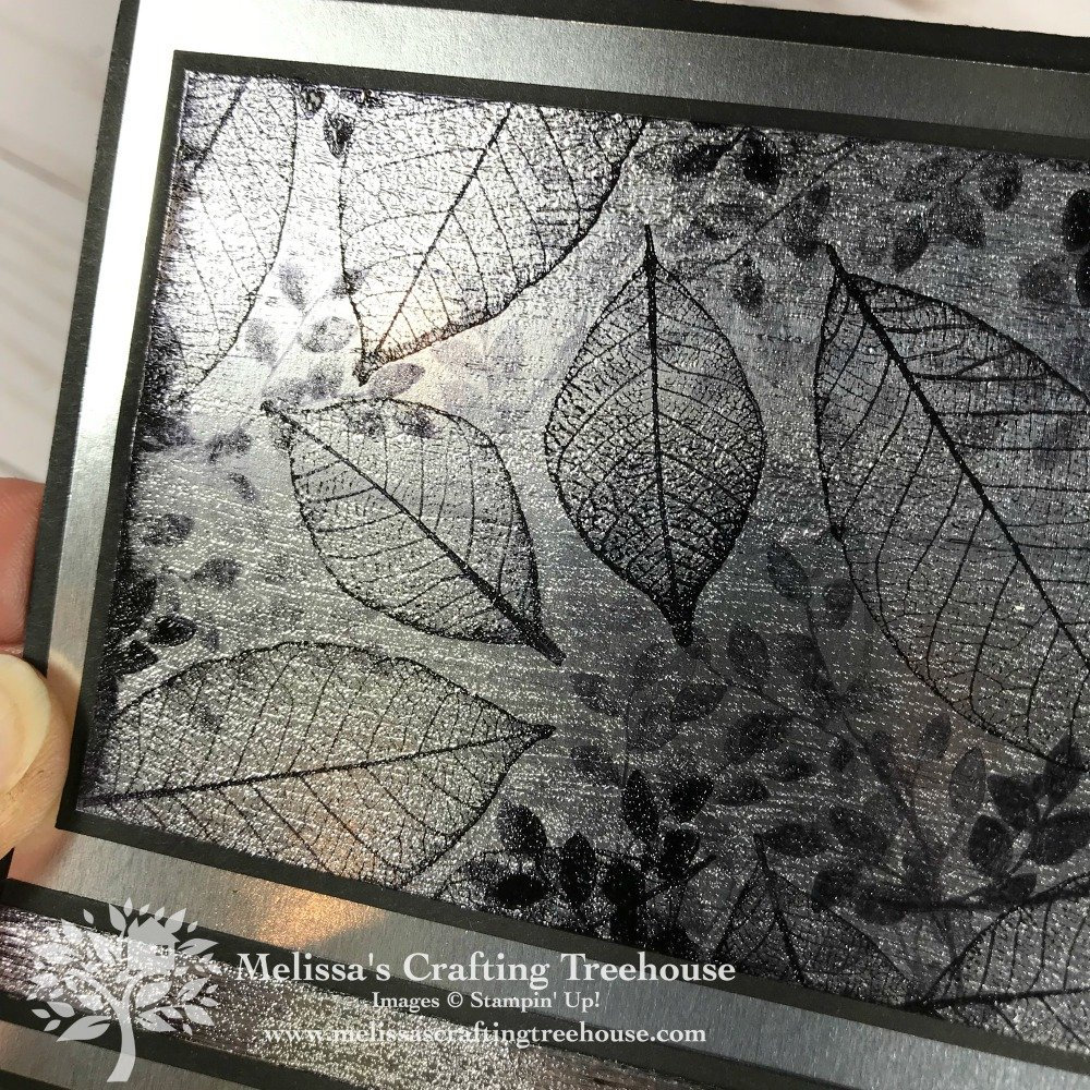 Today's project features embossing art with the Rooted in Nature Stamp Set on silver foil. The Black Ice technique creates an icy montage of foliage!