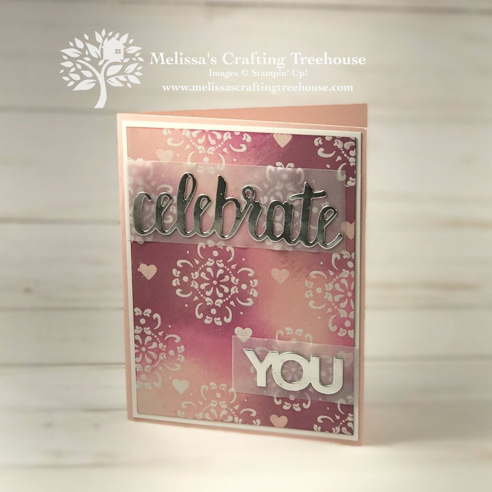 The All Adorned Stamp Set is the featured product for today's post. This project is made with the emboss resist technique.