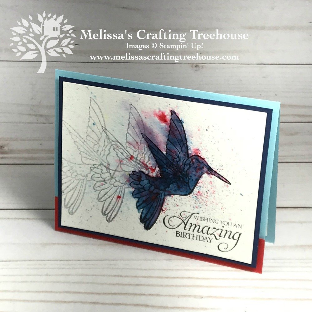 In this post you'll see projects made with various Brusho Techniques. The Stamparatus was used to get the look of motion in the images, for some fun results. The Humming Along Stamp Set was used here.