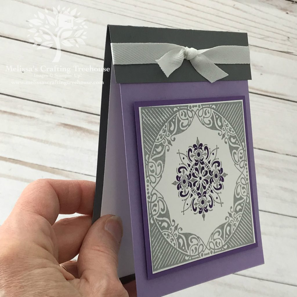 Check out this fun fold card made for the Color Fusers blog hop and color challenge for March 2019.  The All Adorned Stamp Set, one of the Sale-A-Bration 2nd release items, is the featured product on today's project.