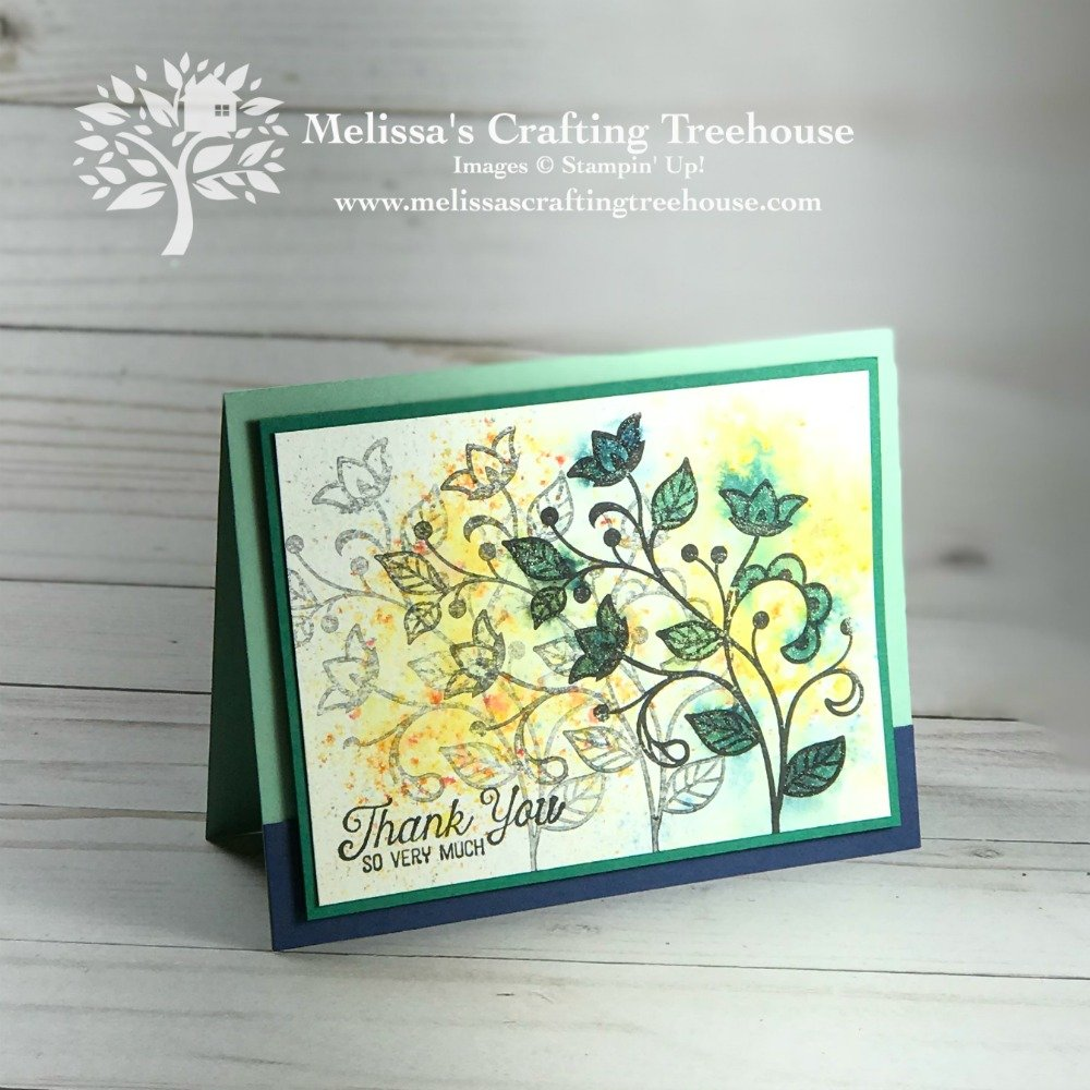 In this post you'll see projects made with various Brusho Techniques. The Stamparatus was used to get the look of motion in the images, for some fun results. The Flourishing Phrases Stamp Set was used here.