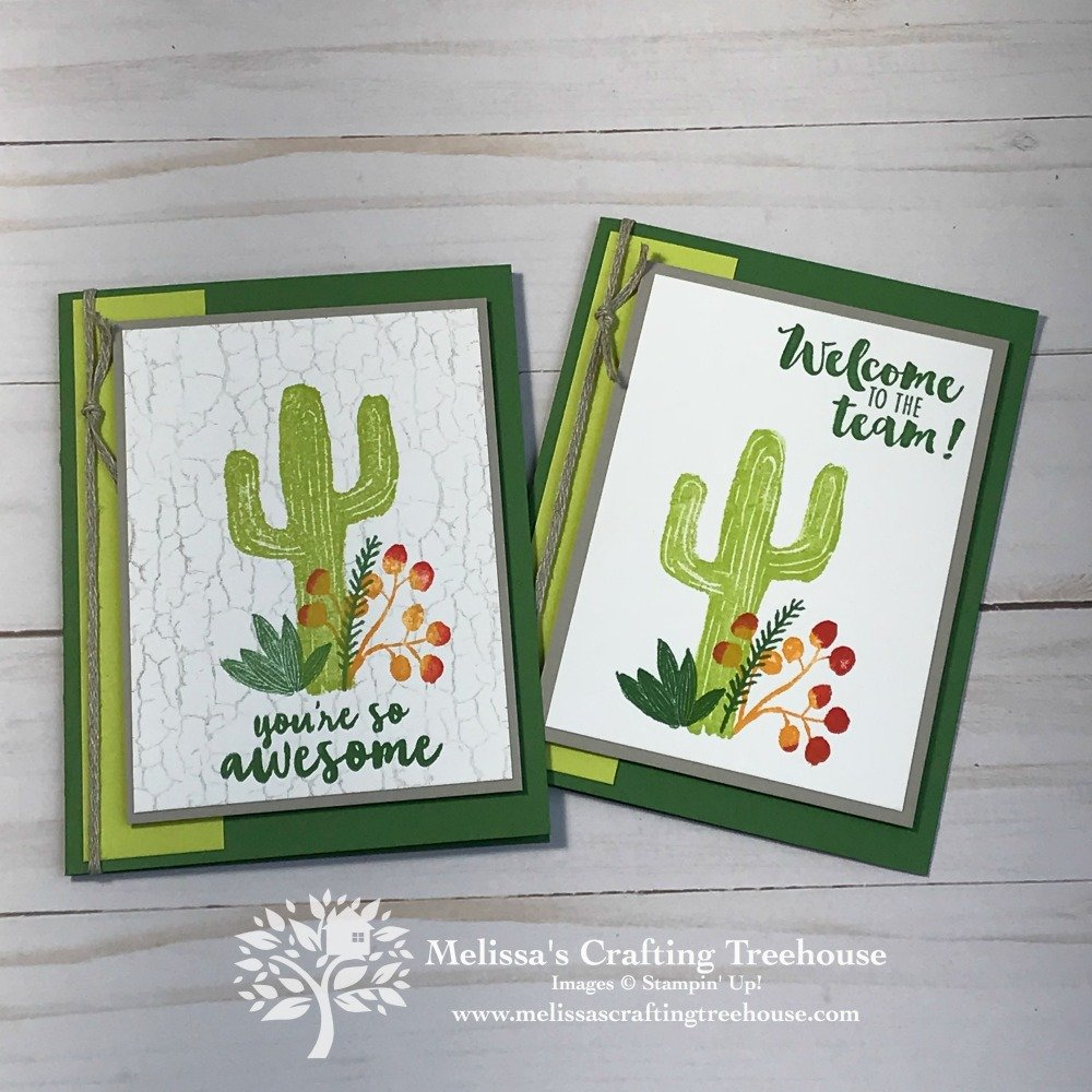 Today's simple cardmaking ideas feature the Flowering Desert stamp set from the 2019 Occasions Catalog. The Stamparatus was used to get perfect placement!
