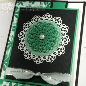 The set of Handmade Folding Cards in this post are made with the Doily Builder Dies and the Happiness Blooms designer series paper.