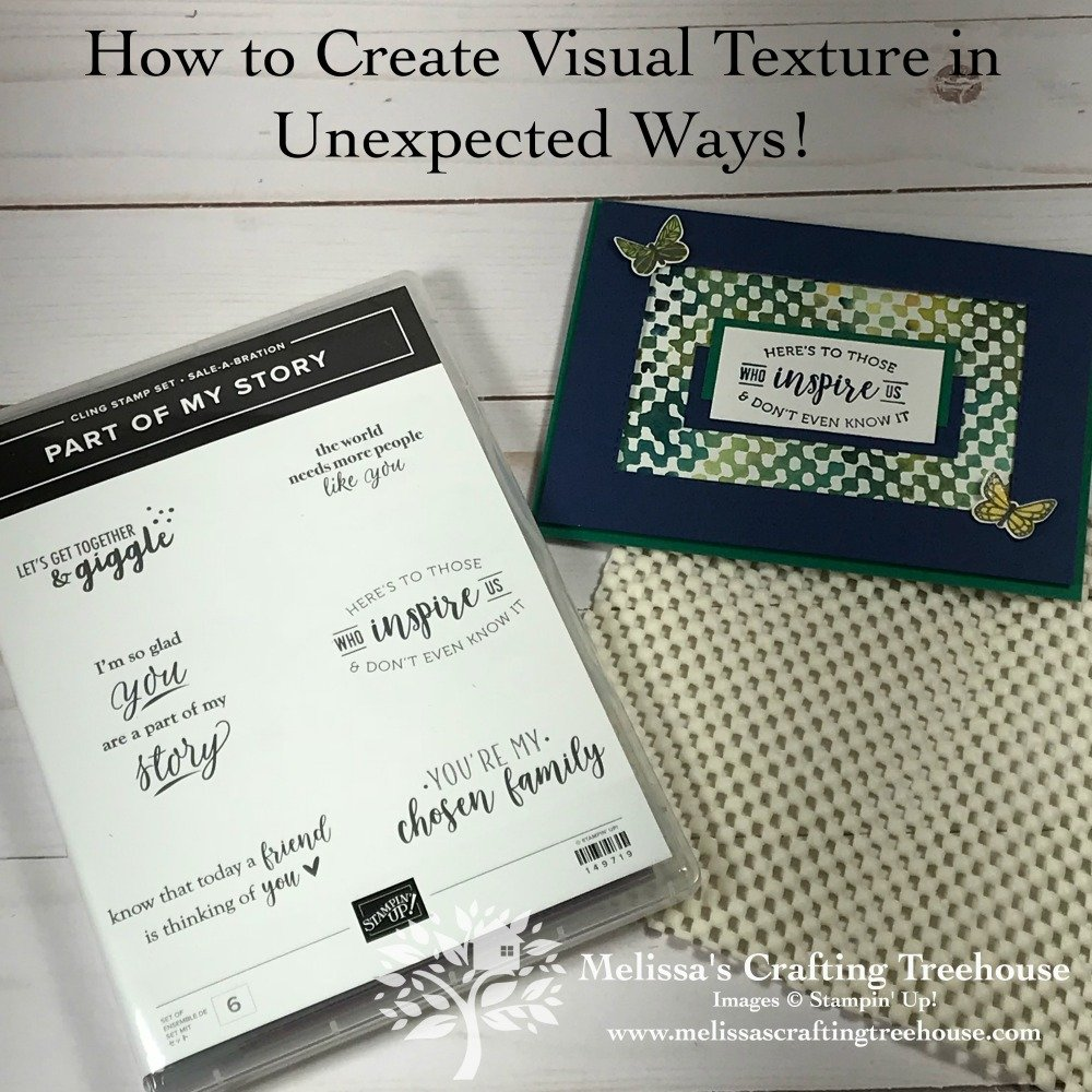 Learn some unusual ways to create texture in your paper crafting projects using some unexpected household items!
