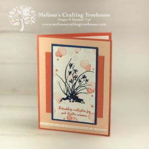 For today's project I found artistic inspiration from a fun, unconventional source. My card features the Artistically Asian and Beauty Abounds Stamp Sets.