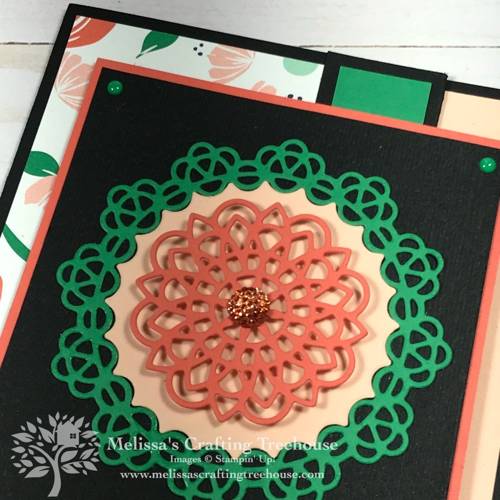 See three projects here from the Simple Suite Stamper's Tutorial Bundle PDF. Projects feature the Doily Builder Thinlits and Happiness Blooms product suite.