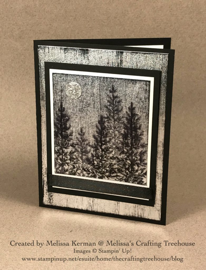I'm so excited to share today's project which features the Lovely As A Tree Stamp Set and a brand NEW Technique I call the Black Ice technique.