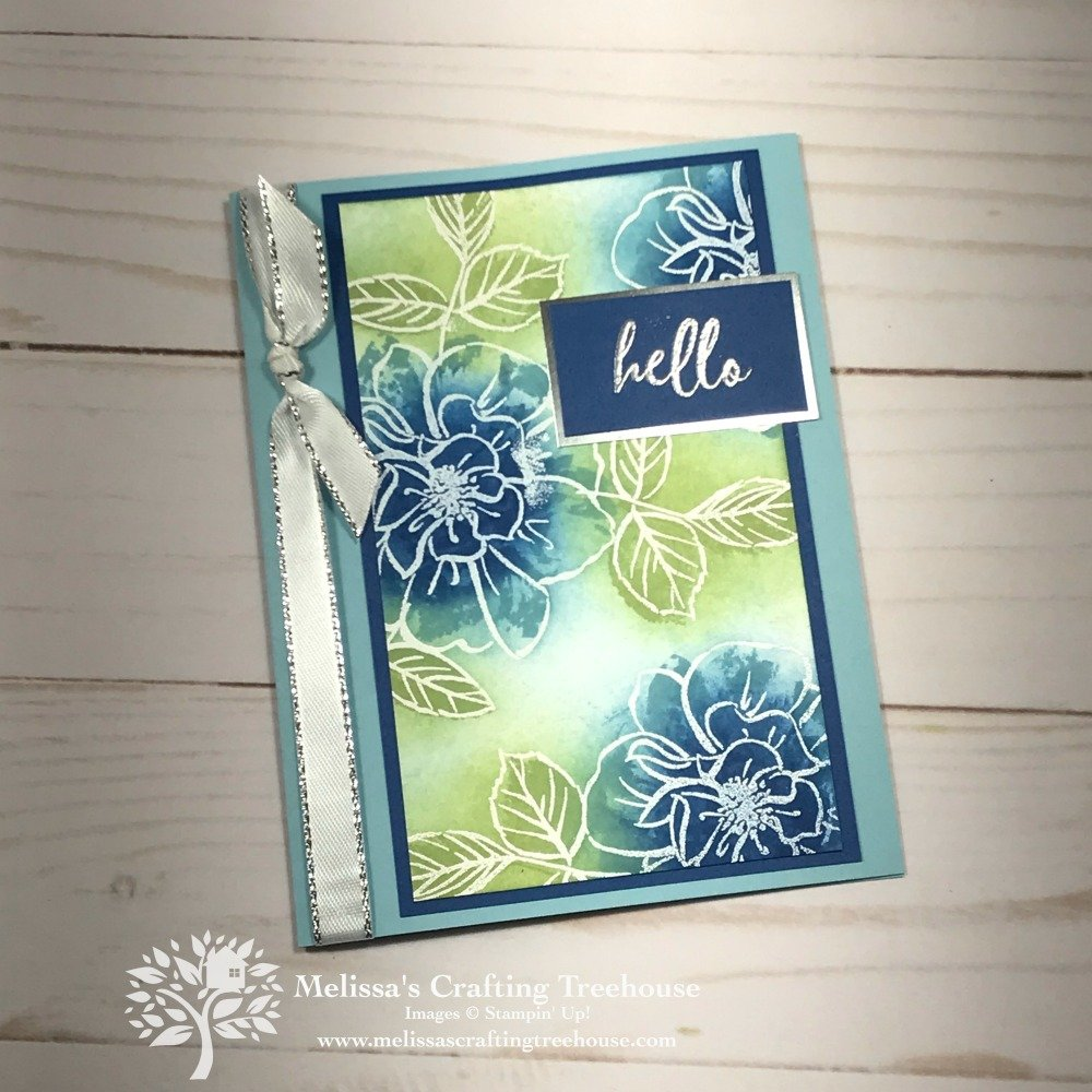Today's projects are for the card maker that wants an easy WOW effect. I've used the To A Wild Rose bundle and an Easy DIY Stamp Pad!
