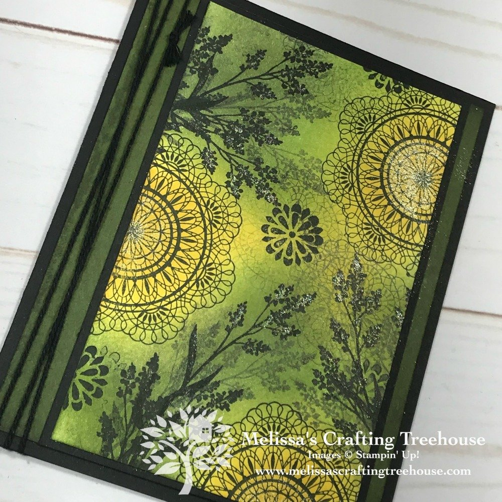Simple stamping and sponging are the techniques used on this card made with the Dear Doily Stamp Set. This is a Mar/April FREE Card Kit Program project!