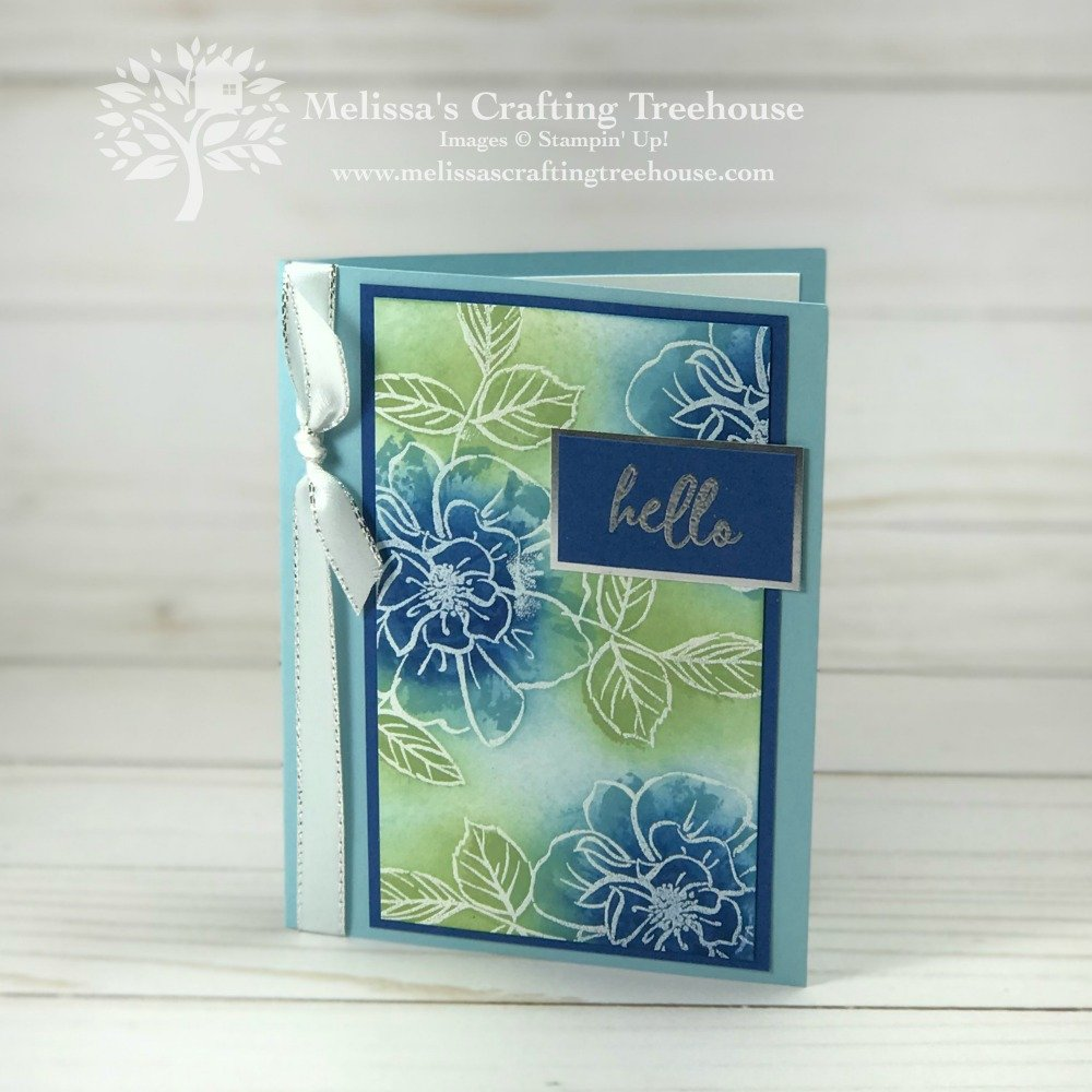 Today's projects are for the card maker that wants an easy WOW effect. I've used the To A Wild Rose bundle, a 2019 Annual Catalog Sneak Peek!!