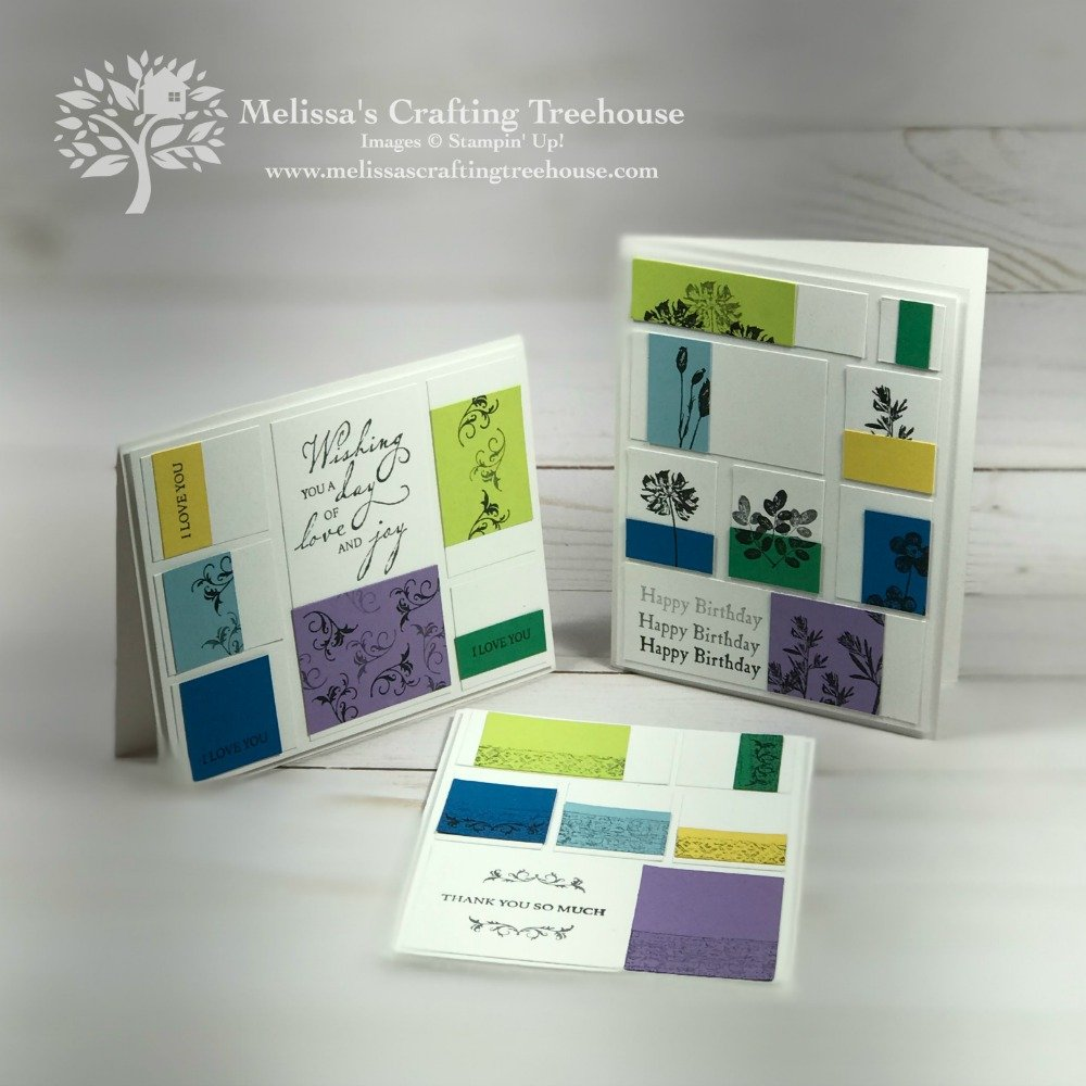 In today's post and Facebook Live, I'm sharing an art piece that was the layout inspiration for three variations on a card design.
