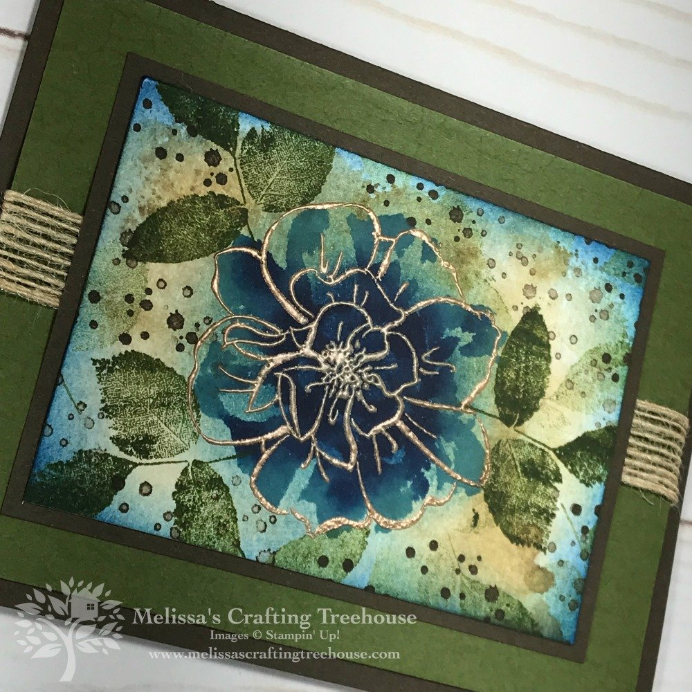 Today's elegant card design was made with the To A Wild Rose Stamp Set, a new item in the Stampin' Up! 2019 - 2020 Annual Catalog. A DIY stamp pad was used.