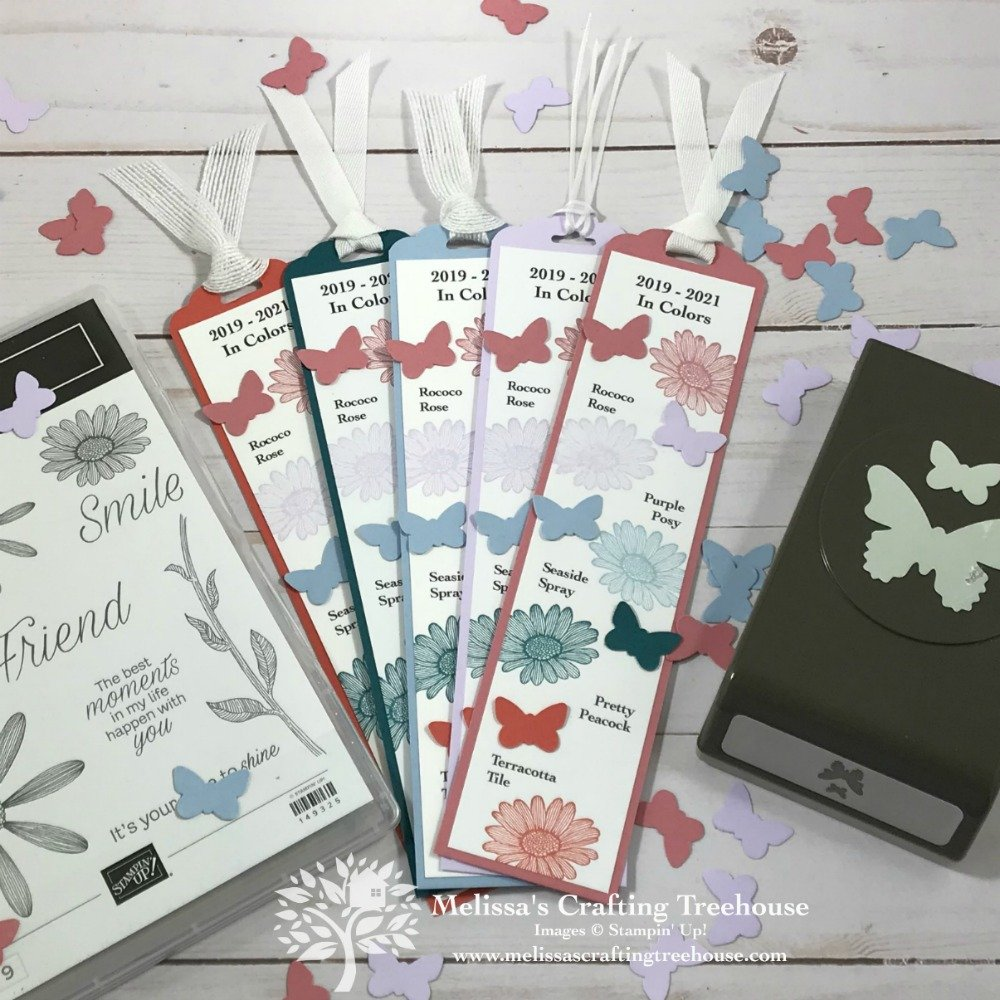 Check out my DIY Bookmark that features the NEW Stampin' Up! In Colors! Place a qualifying order in May or June 2019 and get this bookmark for FREE!