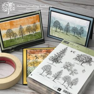 In today's post and Facebook Live, I'll be playing with the Masking Tape Technique and will be featuring two retiring stamp sets including the Lovely As A Tree and Amazing Life sets.