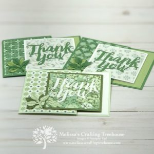 The Garden Lane designer series paper is the featured product for today's fun fold card ideas.