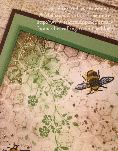 Today's project features a few of my absolute favorite products that are retiring including the Hexagons Embossing folder, and the Touches of Texture stamp set.