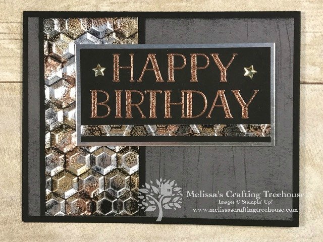 This post originally went live on 12/30/16. The project uses the hexagons embossing folder that I love and will be retiring on 6/3/19. I just had to share before it's gone for good!