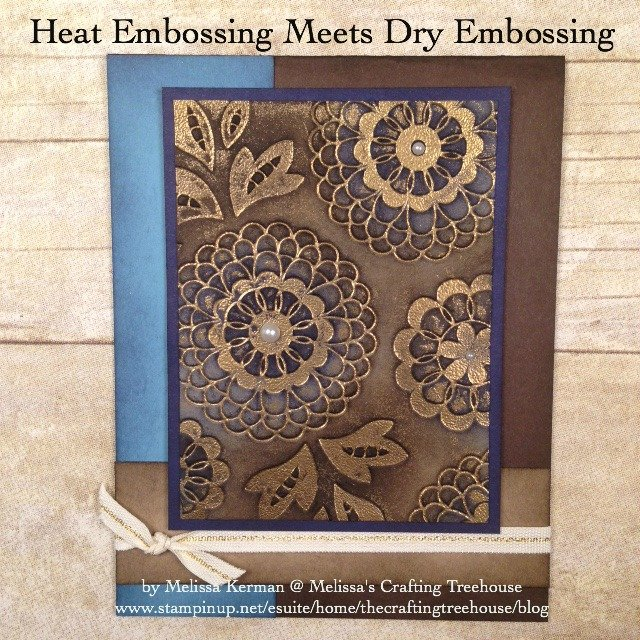 Today's post is all about Embossing Folders and fun ways to use them in combination with heat embossing! Lots of fun variations are included in this post!