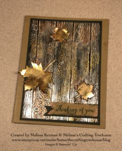 Check out this unique handmade card featuring the Tarnished Foil technique, the Pinewood Planks Embossing Folder and the Seasonal Layers Dies!