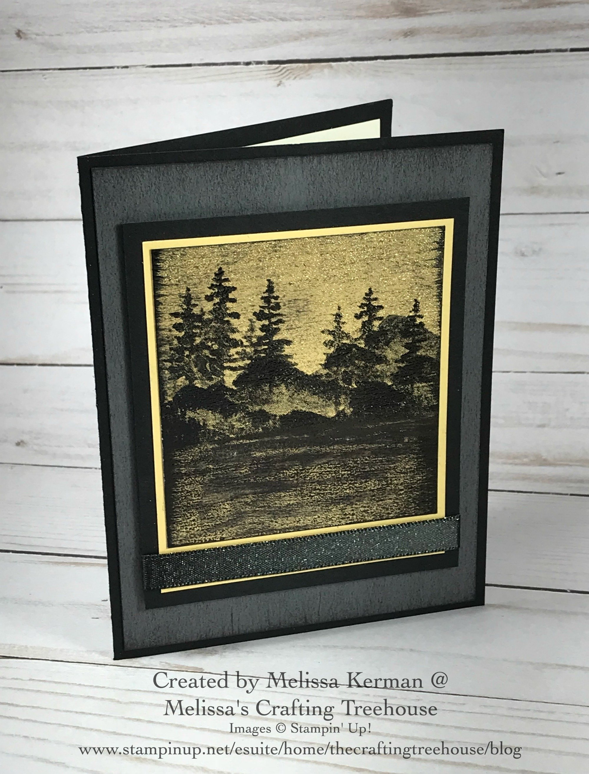 Check out this project made with the Stampin' Up! Waterfront Stamp Set! It's made with my very own Black Ice paper crafting technique!
