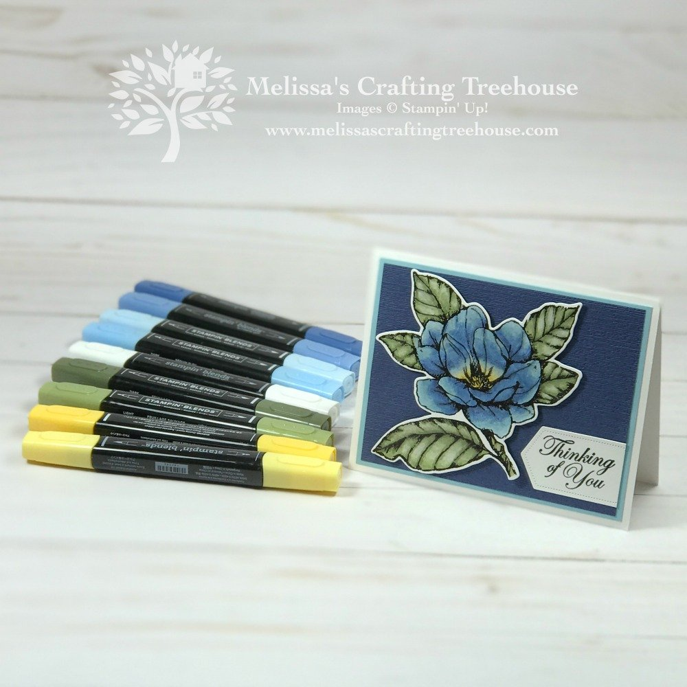 Today I'm sharing a project made with the Good Morning Magnolia Stamp Set and will demonstrate how to use alcohol markers to blend and shade.