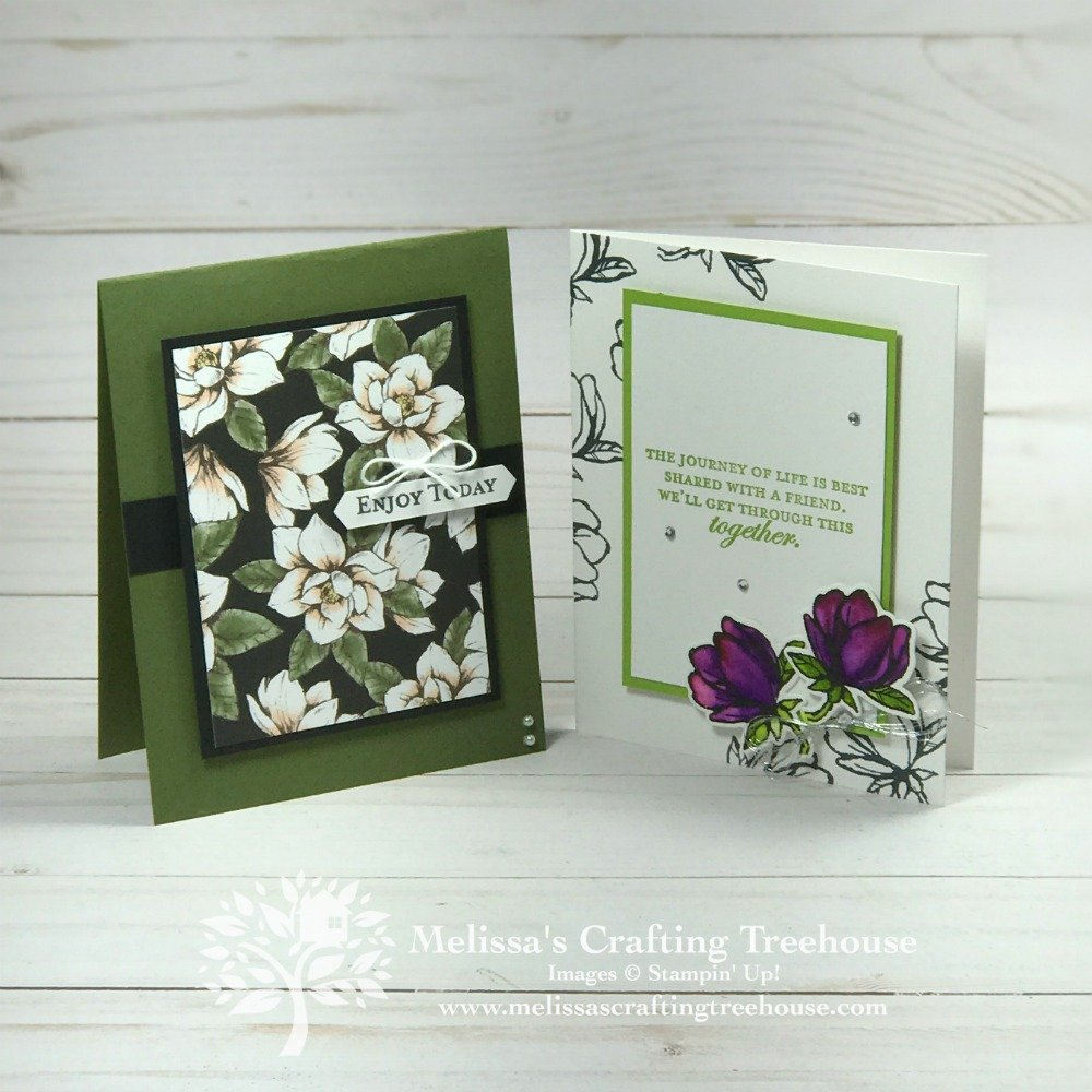 Check out these simple card making ideas made with the Magnolia Lane Product Suite! These are from the July 2019 Simple Suite Stampers Tutorial bundle.