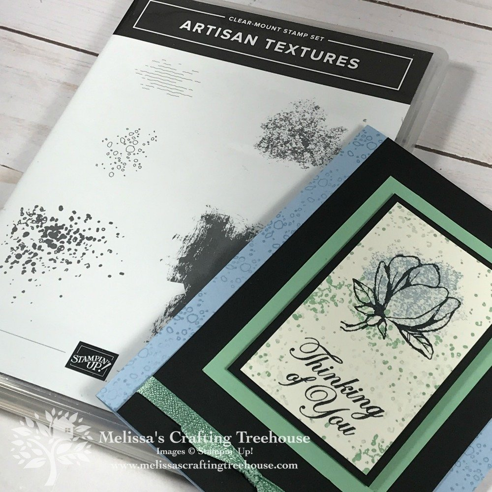 The project in this post features the easiest quick coloring method ever! I've used the Good Morning Magnolia and Artisan Textures stamp sets.